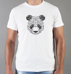 Футболка с принтом Панда, Медвежонок (Panda) белая 0021