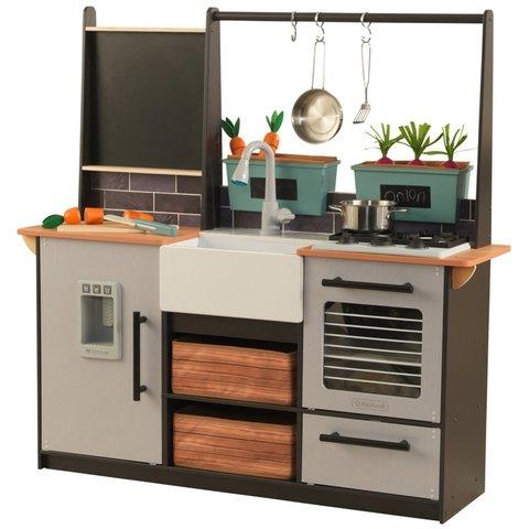 KidKraft Усадьба серая - детская интерактивная кухня 53411_KE