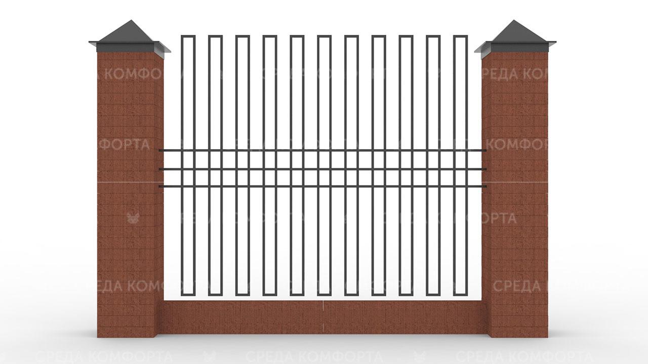 Забор из профильной трубы ZBR0160