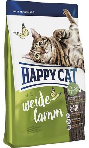 10 кг. HAPPY CAT Cухой корм для взрослых кошек с пастбищным ягненком Supreme Adult Weide Lamm