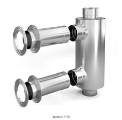 Отопитель натрубный-1 TMF Ø115, 1/0,5 мм, 0,65 м, нерж/нерж