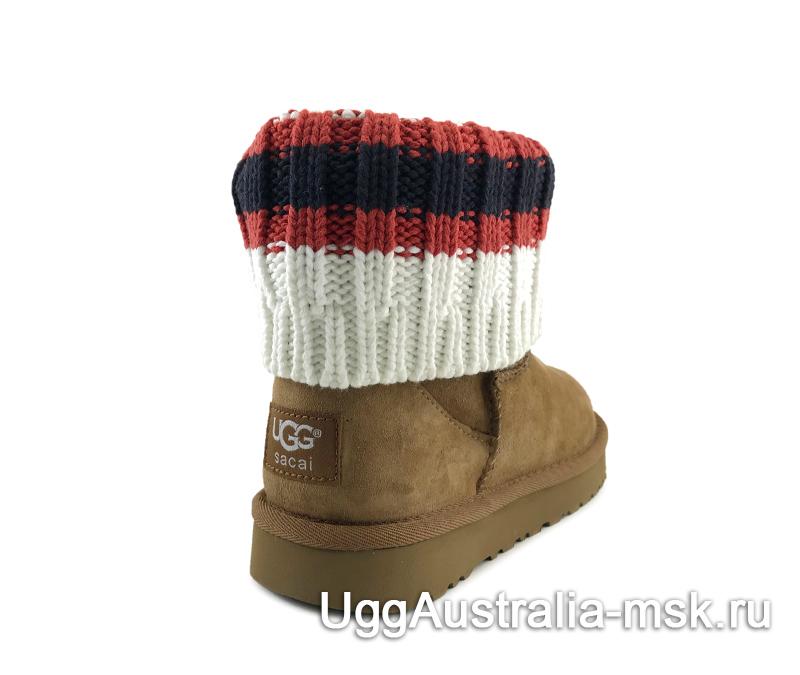 UGG Sacai Knit Classic Mini Chestnut