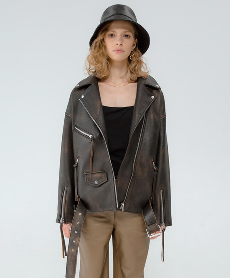 Кожаная куртка Shabby Brown Jacket