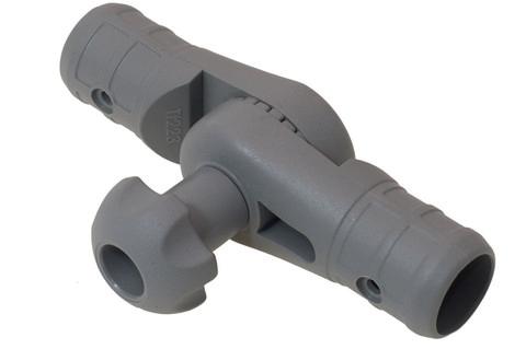 Наклонно-соединительный узел Tt223 для труб Ø 22, 29 мм, серый