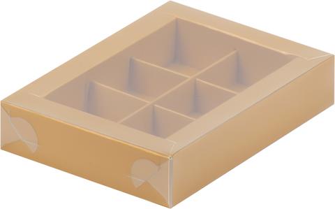 Коробка для конфет (на 6 шт.) золото