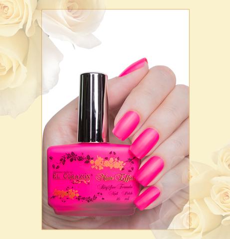 El Corazon Лак Matte Effect т.144neon розовый