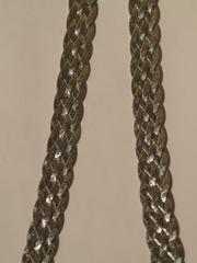 Коса широкая 6 полос(серебряная цепочка)