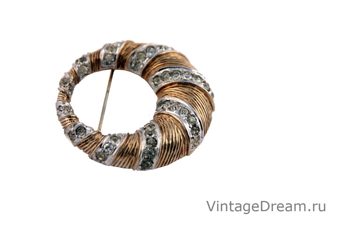 Элегантная серебряная брошь от Nettie Rosenstein