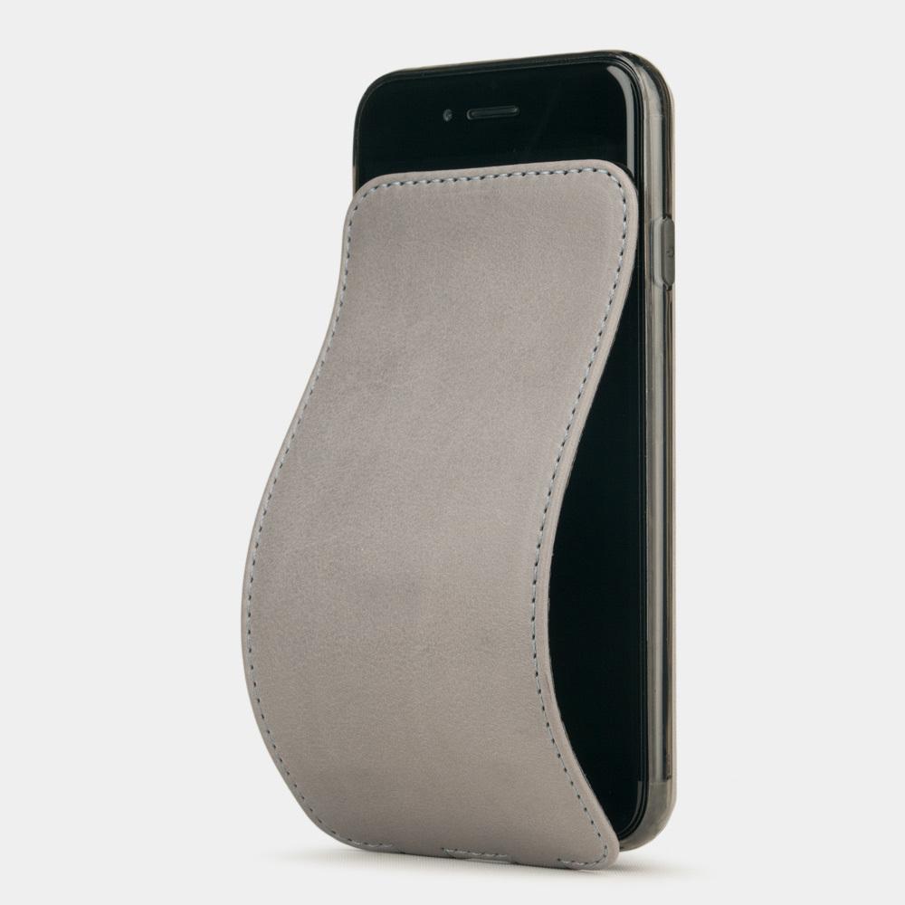 Чехол для iPhone 8/SE из натуральной кожи теленка, светло-серого цвета