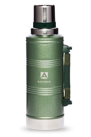 Термос Арктика (106-2200P зелён. с ручкой) 2,2 литра с узким горлом американский дизайн, зеленый*