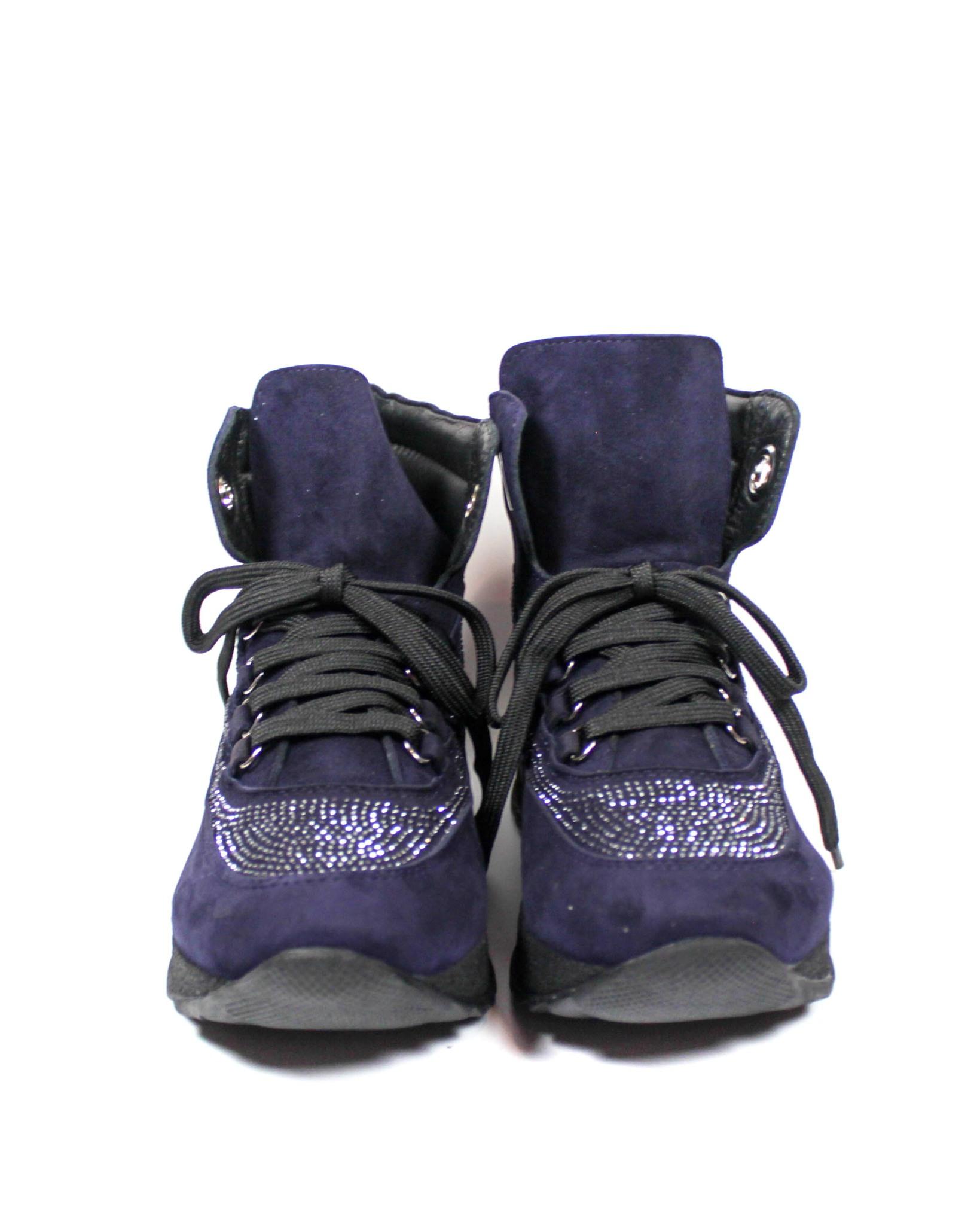 синие ботинки Mario Muzi