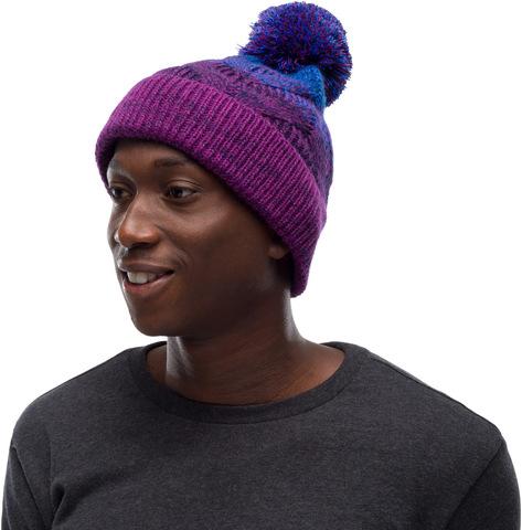 Шапка вязаная с флисом Buff Hat Knitted Polar Masha Purplish фото 2