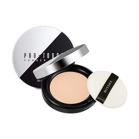 Missha Pro-Touch Powder Pact SPF25/PA++ компактная пудра для лица тон № 21 светлый бежевый