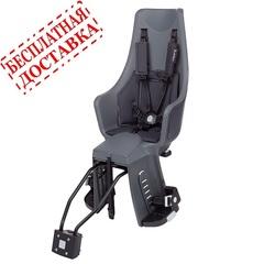 Велокресло Bobike Exclusive Maxi Plus Frame Led система крепления 2 в 1. Цвет: Urban grey