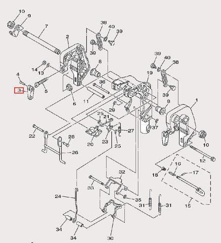 Ручка зажима для лодочного мотора F9,9 Sea-PRO (21-3)