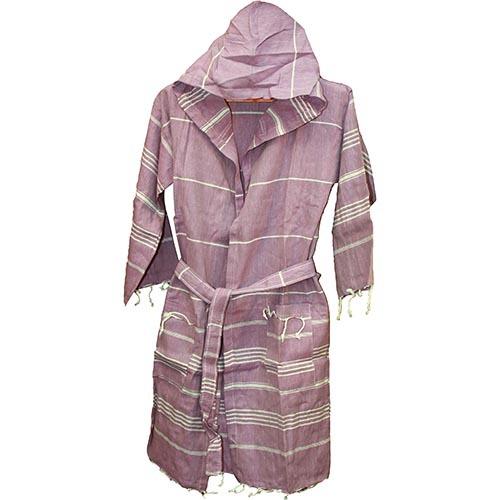 Халат для хамама фиолетовый