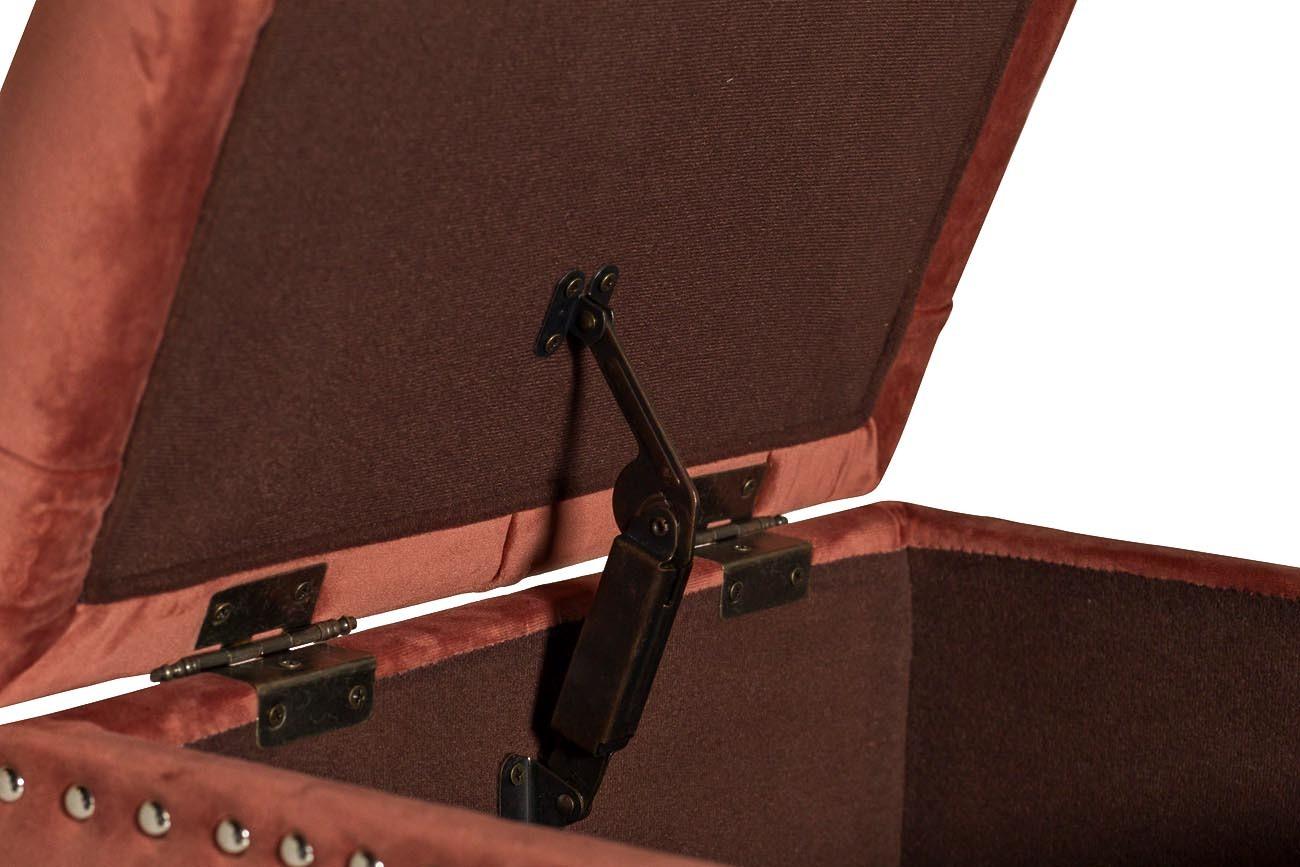 Банкетка с крышкой велюровая темно-розовая (48MY-5208-T DRO) Garda Decor