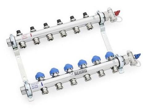 Rehau HKV 11 контуров коллектор для радиаторного отопления (12181111001)