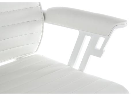 Офисное кресло для персонала и руководителя Компьютерное Sindy белое 71*71*112 Белый