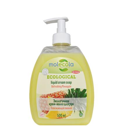Крем- мыло для рук Освежающий Ананас Molecola, экологичное, 500мл