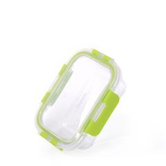 Контейнер с пластиковой крышкой 14х10х5см / 380мл (стекло)