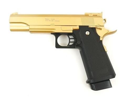 Страйкбольный пистолет Galaxy G.6GD Colt металлический, пружинный