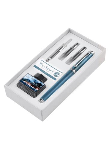 Набор Pierre Cardin We-Share - Blue, перьевая ручка M + 2 сменных пера + чернила + конвертер