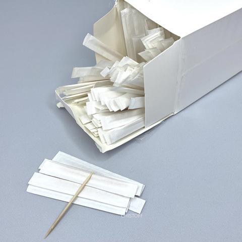 Зубочистки в индивидуальной бумажной упаковке Люкс (1000 шт.)