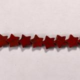 Бусина из яшмы красной, фигурная, 6x6 мм (звезда, гладкая)