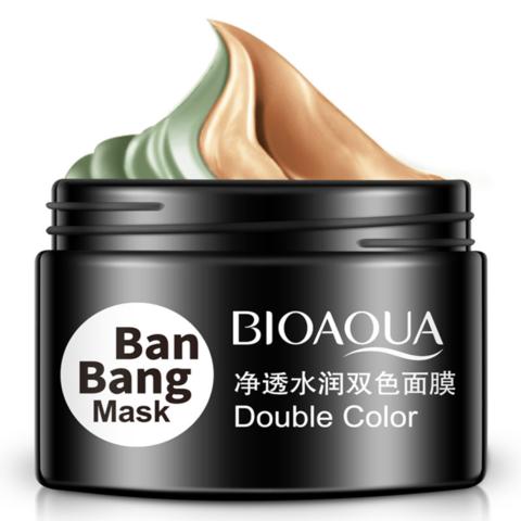 Очищающая, увлажняющая маска для лица глиняная двухцветная BAN BANG, 100гр.