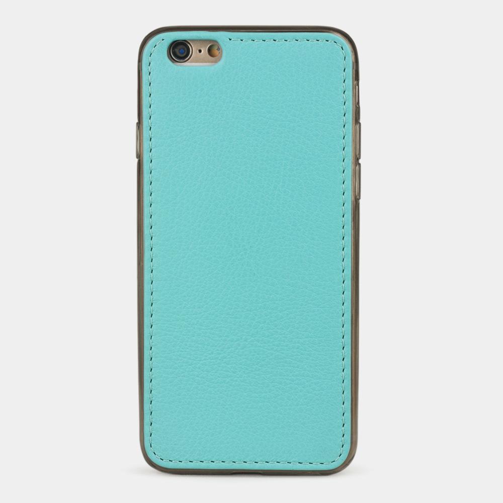 Чехол-накладка для iPhone 6/6S из натуральной кожи теленка, цвета тиффани