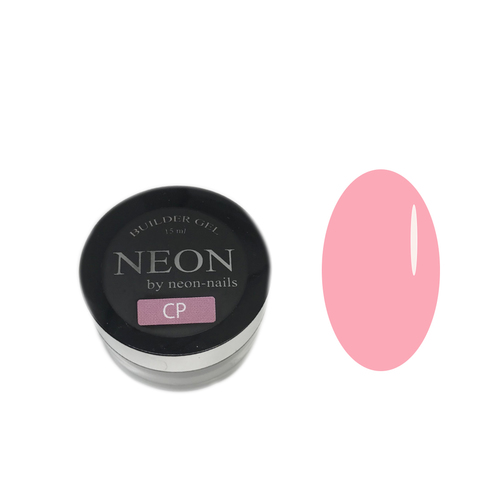 NEON, BUILDER GEl Clear Pink, 15 ml розовый моделирующий камуфлирующий гель