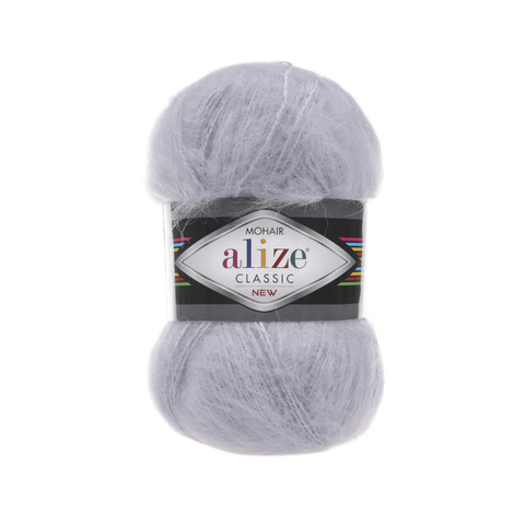 Пряжа Alize Mohair Classic New 52 светло-серый
