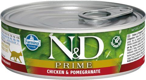Farmina N&D консервы для кошек (курица с гранатом) 80г
