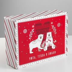 Коробка складная «Новогодняя», 30.7 × 22 × 9.5 см, 1 шт.