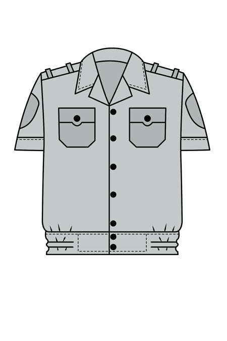 Рубашка ведомственная с коротким рукавом
