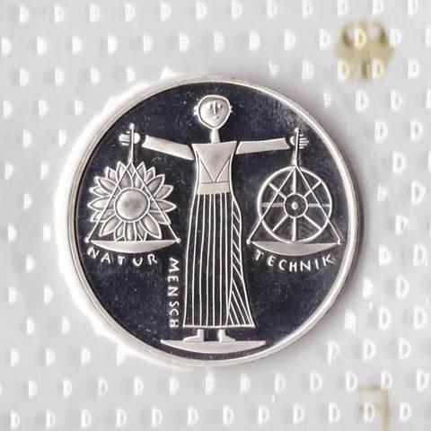 10 марок. Всемирная выставка ЭКСПО 2000 (F). Серебро. 2000 г. PROOF. В родной запайке