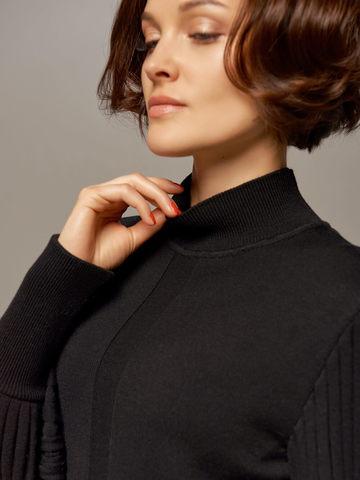 Женский джемпер черного цвета из 100% шерсти - фото 2