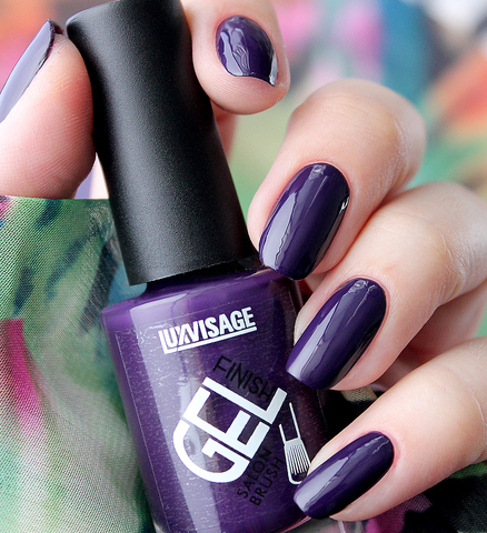 LuxVisage Лак для ногтей GEL finish тон 11(фиолетовый) 9г