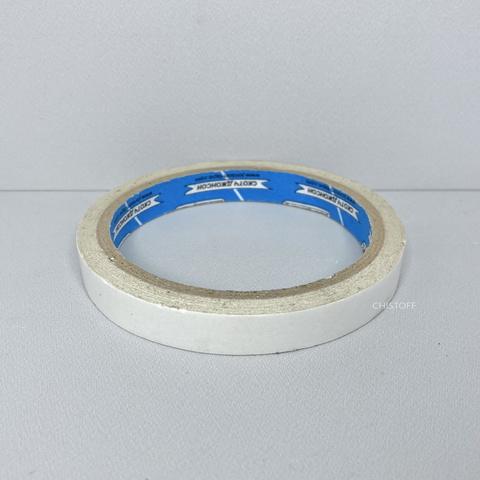 Скотч двухсторонний, ширина: 12 мм
