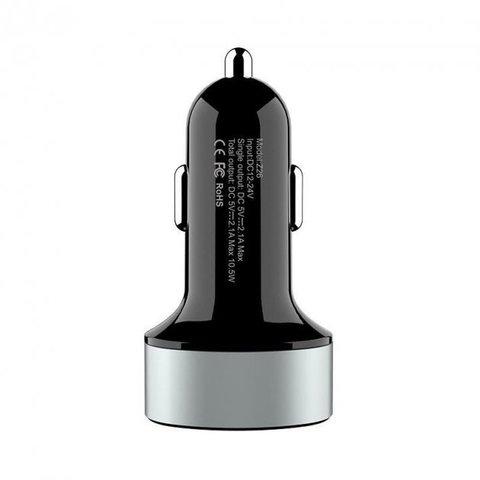 Автомобильное зарядное устройство HOCO Z26 2.1A 10.5 Вт Черный