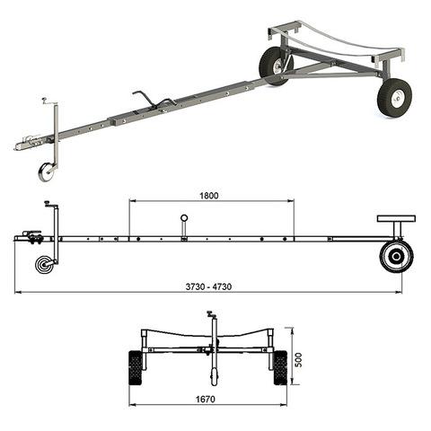 Трейлер для транспортировки НЛ и РИБ (чер.мет.)