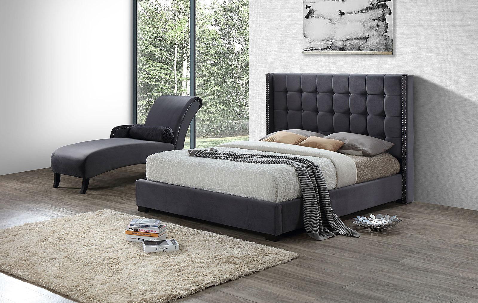 Кровать ESF INFI2868 серый и Шезлонг INFI1040 серый