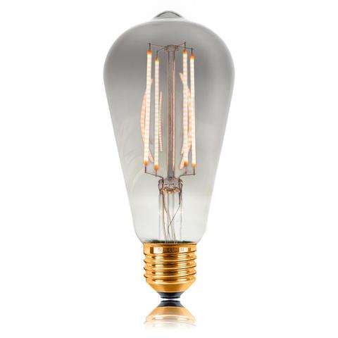 Светодиодная ретро лампа ST64 4W E27 GRAY