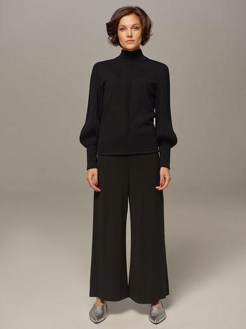 Женский джемпер черного цвета из 100% шерсти - фото 4
