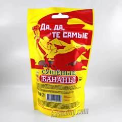Сушеные бананы Вьетконг, упаковка 200 г обратная сторона