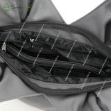 Сумка Саломея 101 серый + черный
