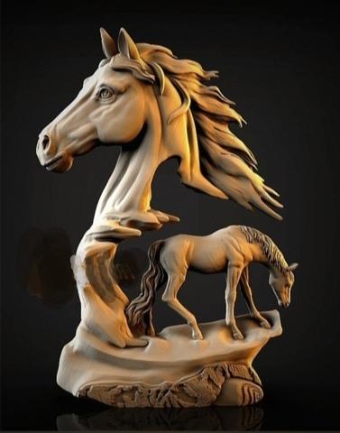 Силиконовый молд № 344  Конь левый  большой