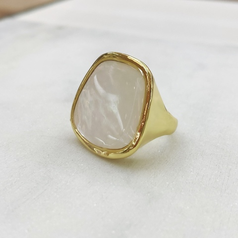 Кольцо Гаити с перламутром (золотистый)