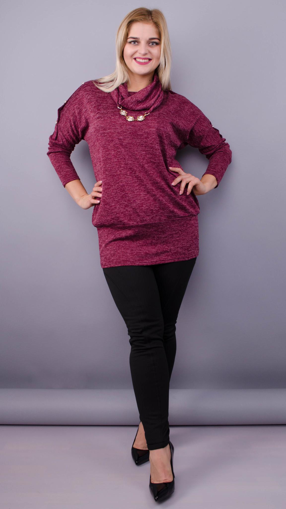 Кофточка с шарфом Муза (бордо)